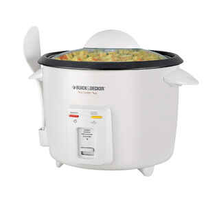 Black and Decker  White  16 cups Programmable Rice Cooker