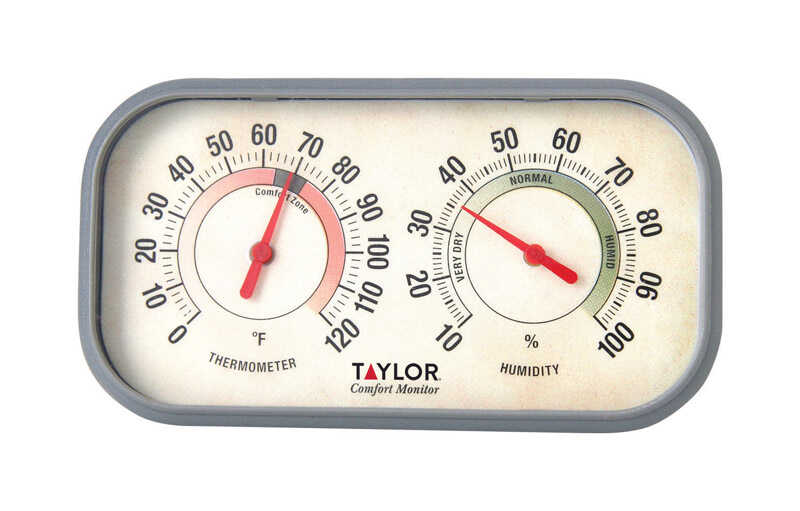 Taylor  Comfort Monitor  Dial Thermometer  Plastic
