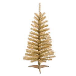 Celebrations 4 ft. Full Incandescent 70 lights Tinsel Christmas Tree