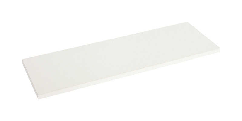 Knape & Vogt  12 in. H x 12 in. W x 72 in. D White  Melatex Laminate/Particle Board  Shelf