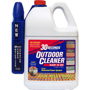 30 SECONDS  Outdoor Cleaner  Outdoor Algae, Mold, Mildew Cleaner  1.3 Gallon