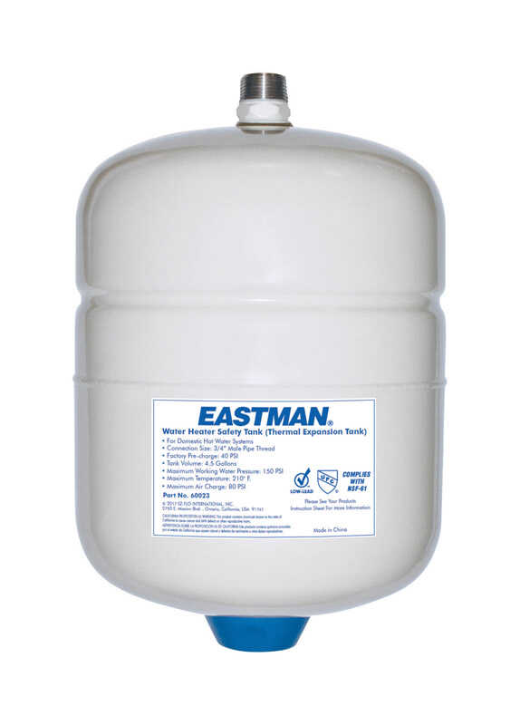 Eastman  Steel  10-7/8 in. H x 16 in. W x 11 in. L MPT  Pre-Charged Expansion Water Tank