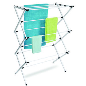 Homz  42 in. H x 29 7/16 in. W x 14 in. D Metal  Clothes Drying Rack