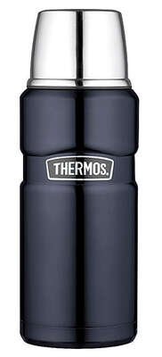 Thermos  Black  Stainless Steel  Insulated Carafe
