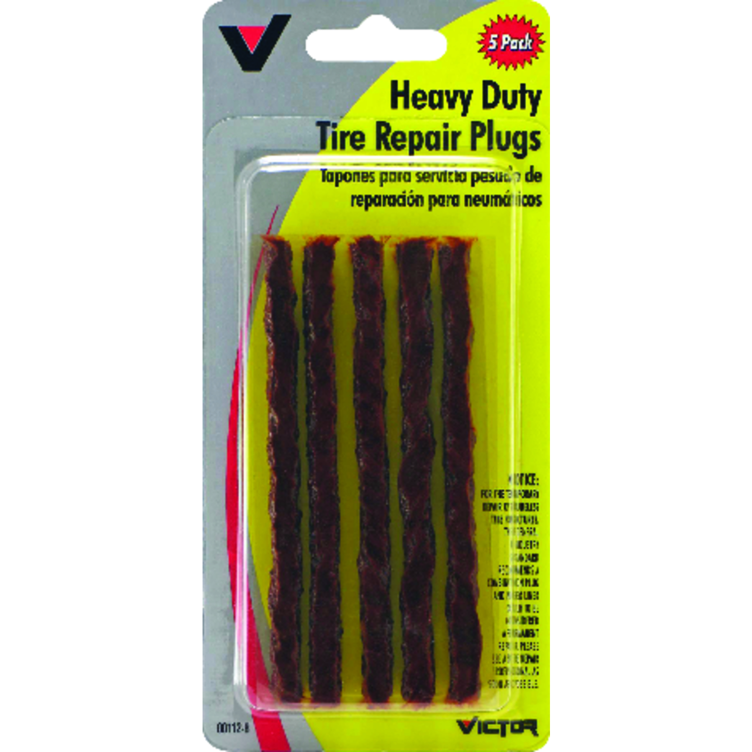 Victor  Heavy-Duty  Tire Plug Refills  For Most Minor Tire Damage