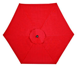Living Accents  New Castle  9 ft. Tiltable Red  Patio  Umbrella
