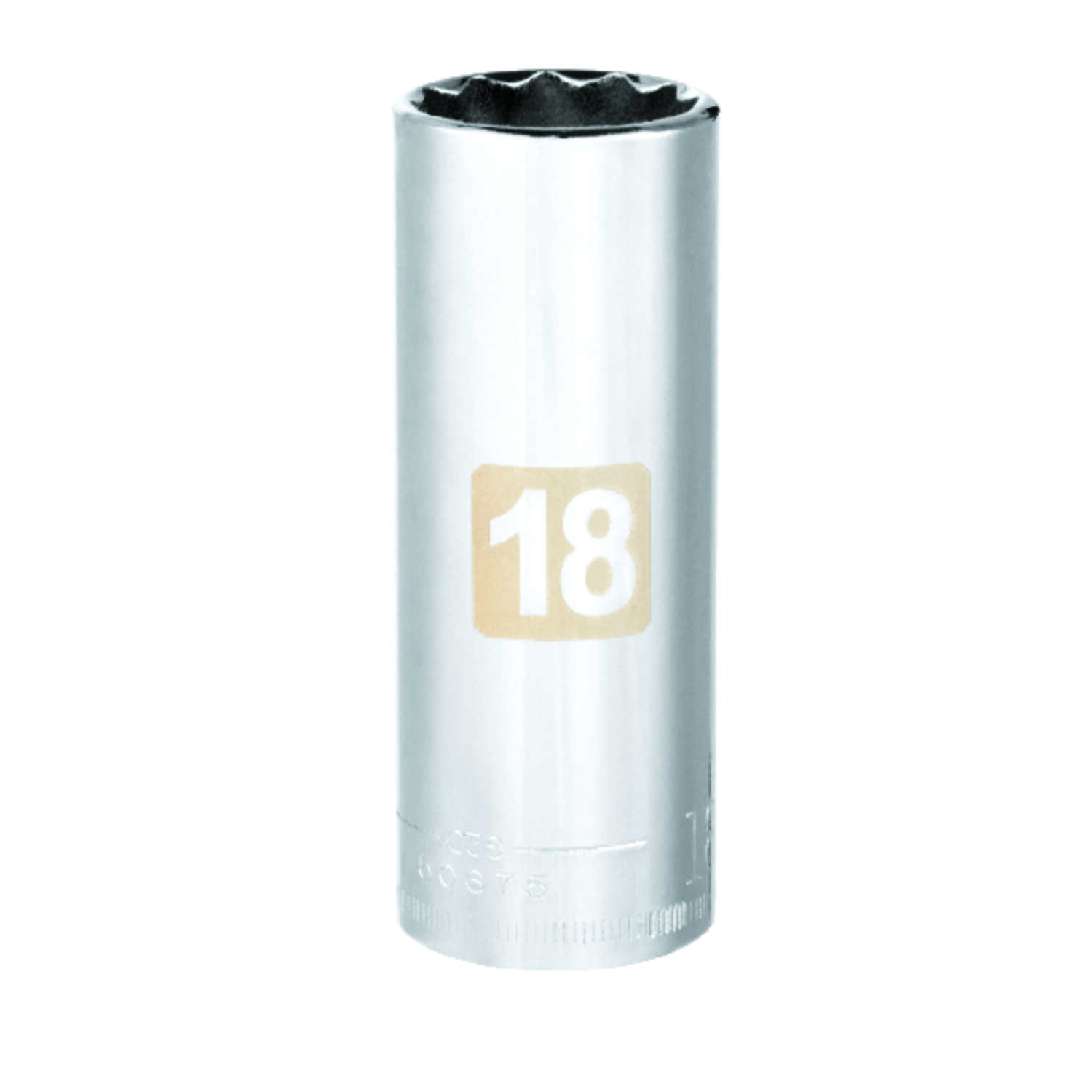Craftsman  18 mm  x 3/8 in. drive  Metric  12 Point Deep  Socket  1 pc.