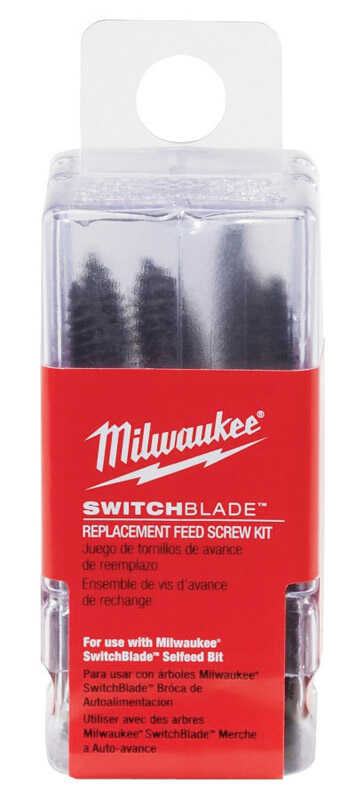 Milwaukee  SWITCHBLADE  Assorted in. Dia. Carbon Steel  7/16 in. 9 pc. Hex Shank  Self-Feed Bit