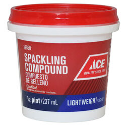 Ace Ready to Use White Lightweight Spackling Compound 0.5 pt.