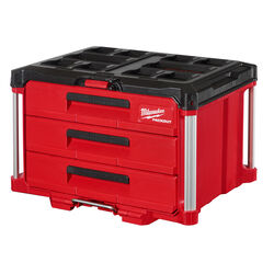 Milwaukee PACKOUT 22 in. 3-Drawer Tool Box Black/Red