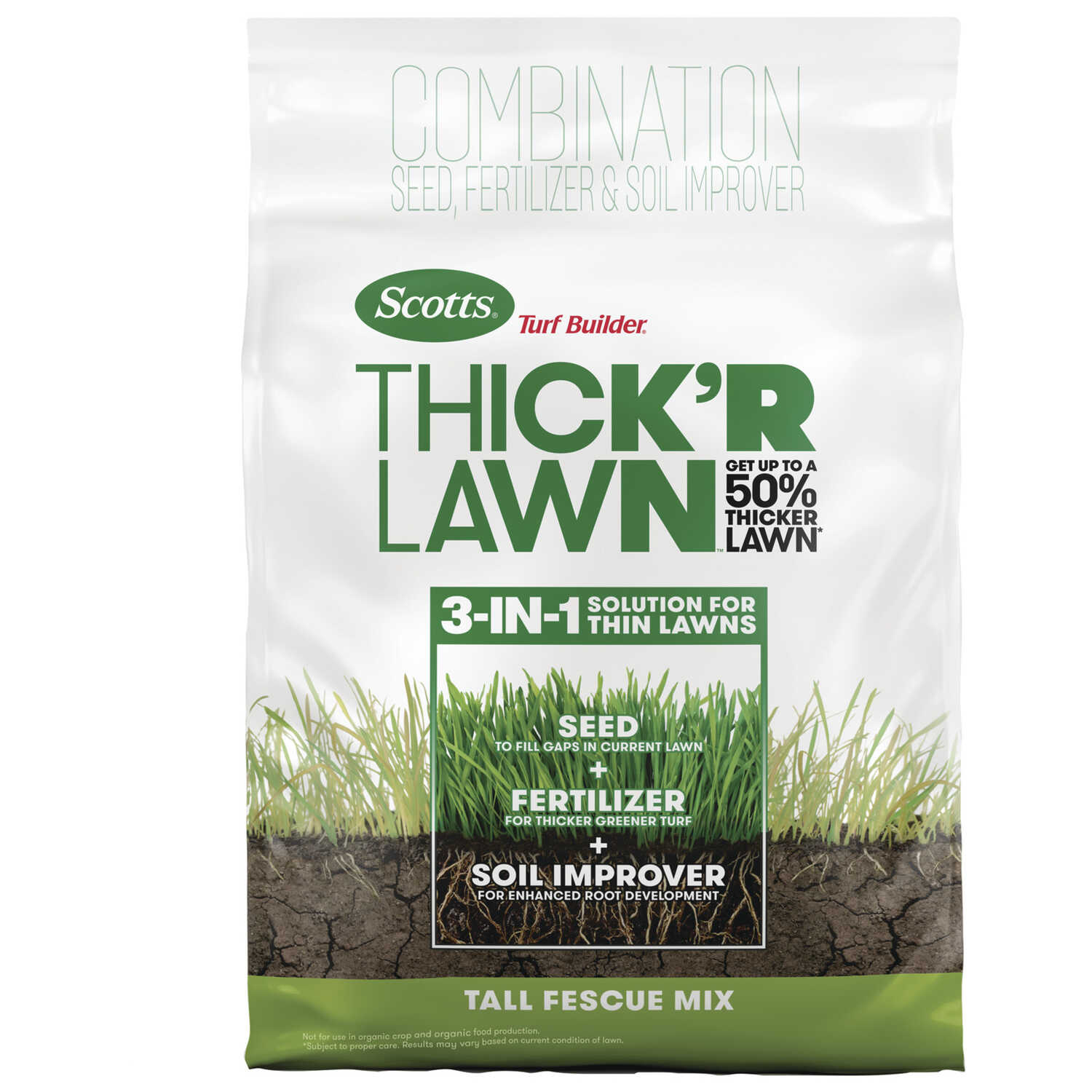 Scotts  Turf Builder Thick'R Lawn  9-1-1  Fertilizer & Seed  For Tall Fescue 12 lb.