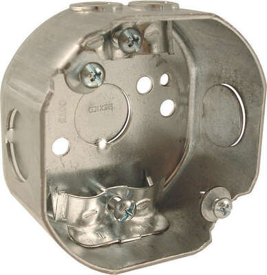 Raco 3-1/2 in. Octagon Steel 1 gang Junction Box Gray