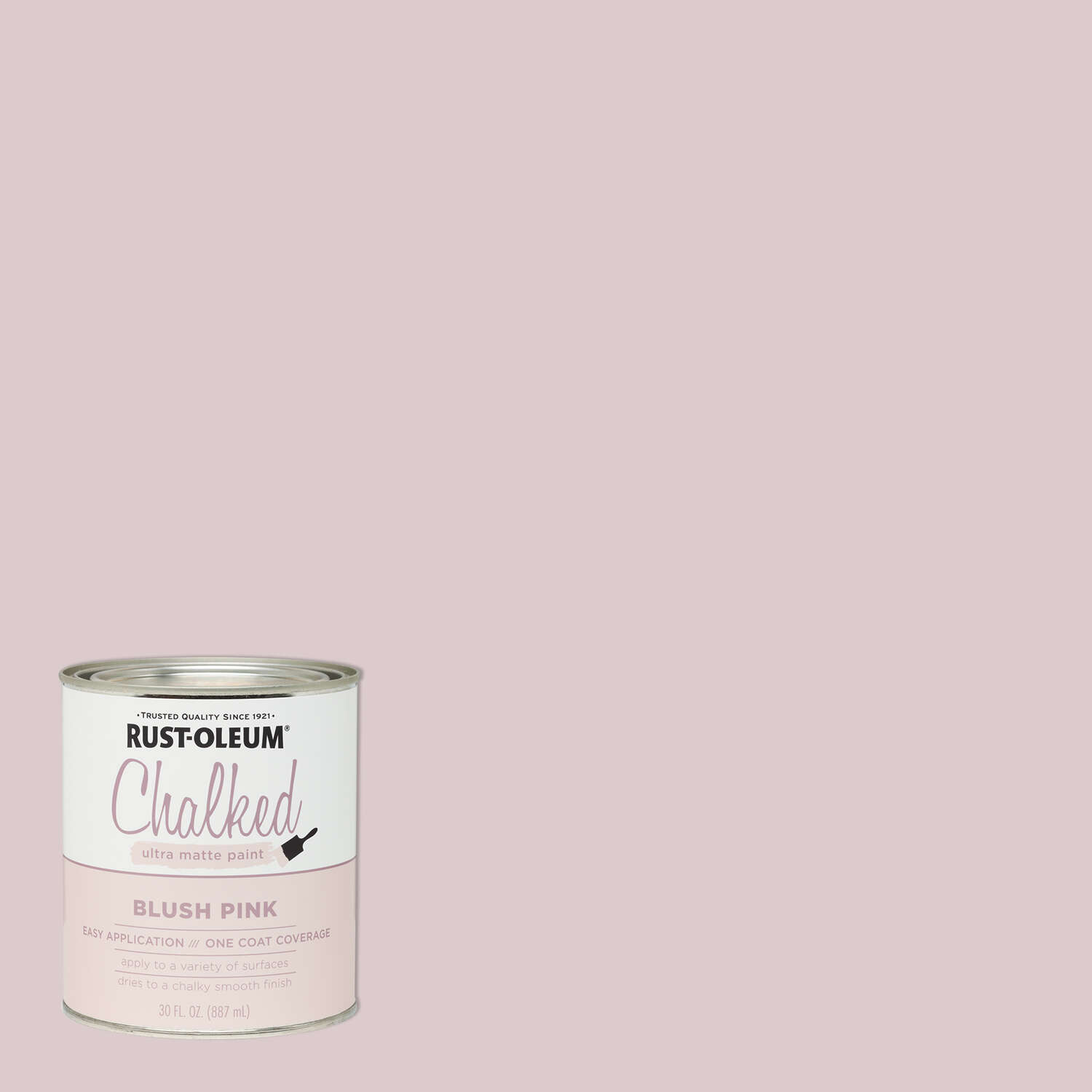 Rust-Oleum  Chalked  Ultra Matte  Blush Pink  Water-Based  Acrylic  Chalk Paint  30 oz.