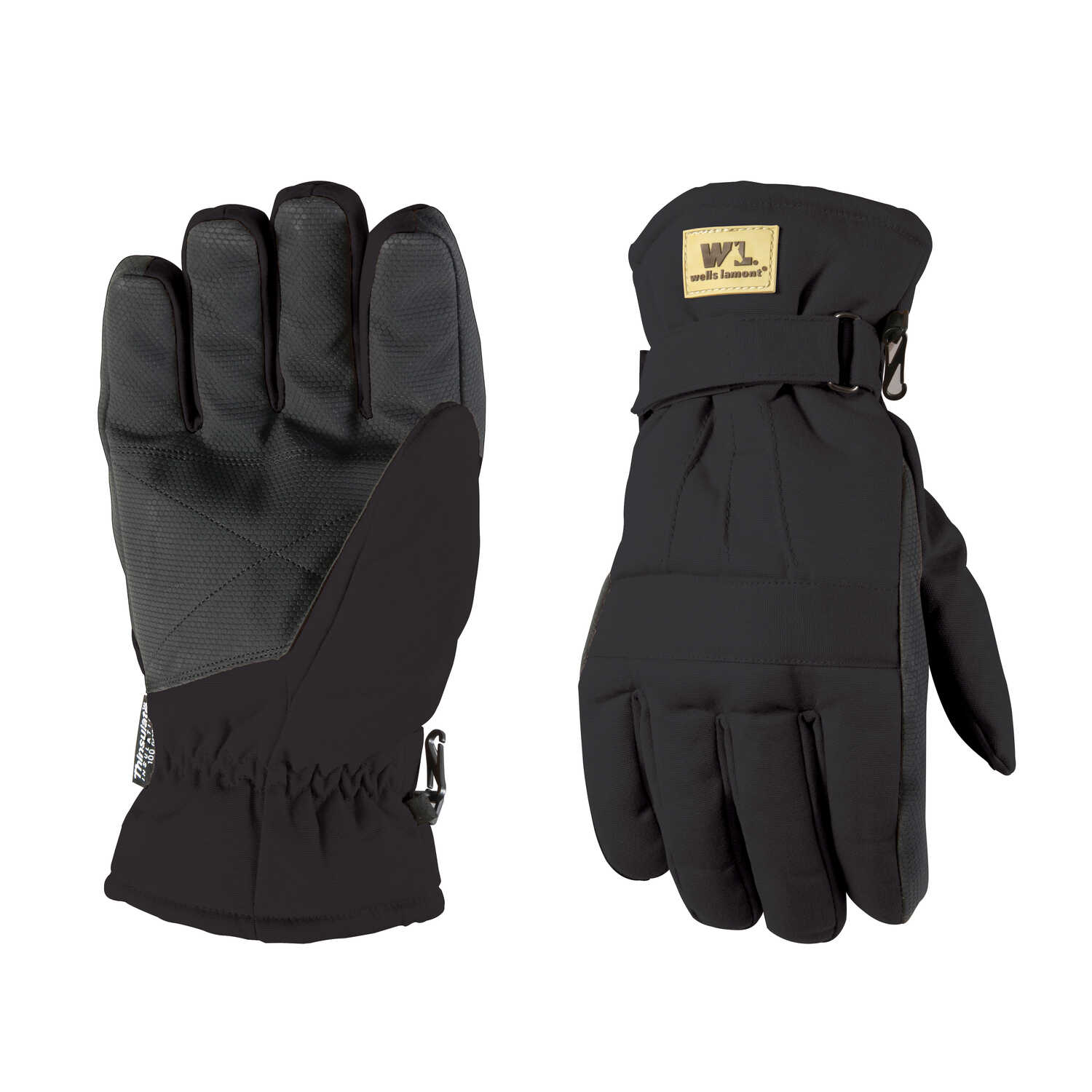 Wells Lamont  Black  Gloves  XL