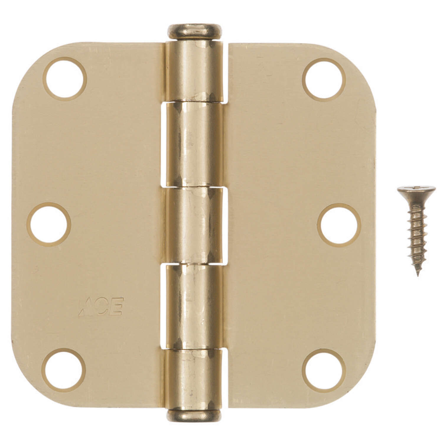 Ace  3-1/2 in. L Satin Brass  Residential Door Hinge  3 pk