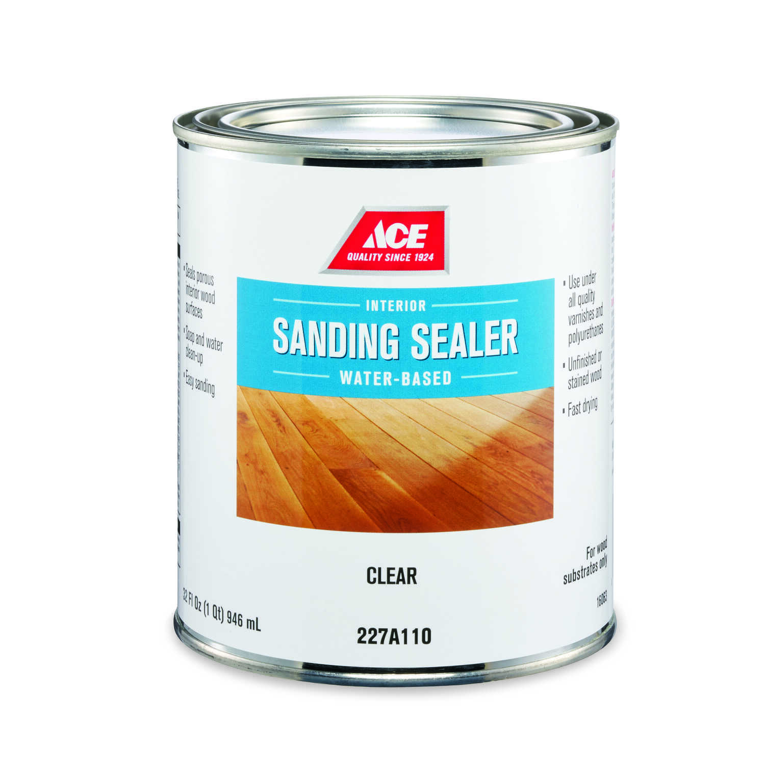 Ace  Smooth  Clear  Water-Based  Sanding Sealer  1 qt.