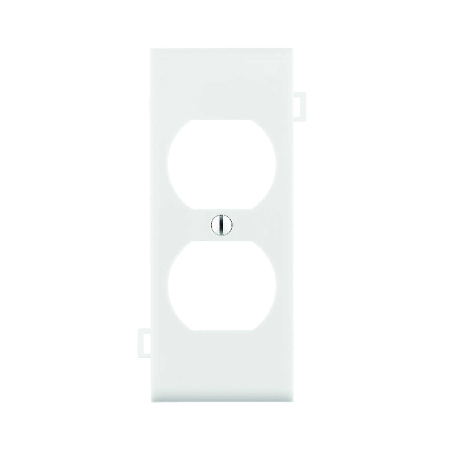 Leviton  Center Section  White  1 gang Nylon  Duplex Outlet  1 pk Wall Plate