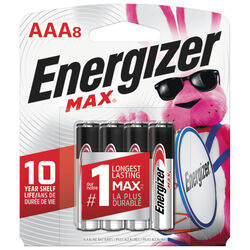 Energizer  MAX  AAA  Alkaline  Batteries  8 pk Carded