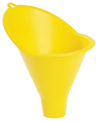 FloTool  Yellow  4 in. H Plastic  8 oz. Radiator Funnel
