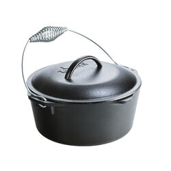 Lodge Logic Cast Iron Dutch Oven 10.25 in. 5 Black