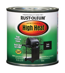 Rust-Oleum  Specialty  Flat  Black  Oil-Based  High Heat Enamel  0.5 pt.