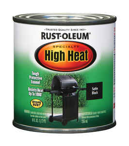 Rust-Oleum  Black  Oil-Based  High Heat Enamel  0.5 pt.