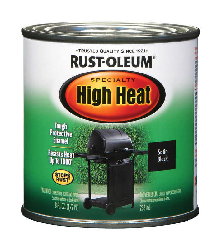 Rust-Oleum Black Oil-Based High Heat Enamel 0 5 pt  - Ace Hardware