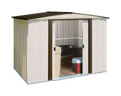 Arrow  Newburgh  5.5 ft. H x 8 ft. W x 6 ft. D White  Galvanized Steel  Storage Shed