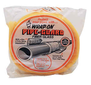Wrap-On  3 in. Pipe Insulation  25 ft. L