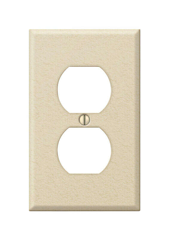 Amerelle  Contractor  1 gang Stamped Steel  Duplex Outlet  Wall Plate  1 pk