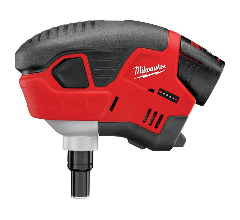 Milwaukee  M12  16 Ga. Compact/portable palm nailer  Kit 12  90 deg. Palm Nailer