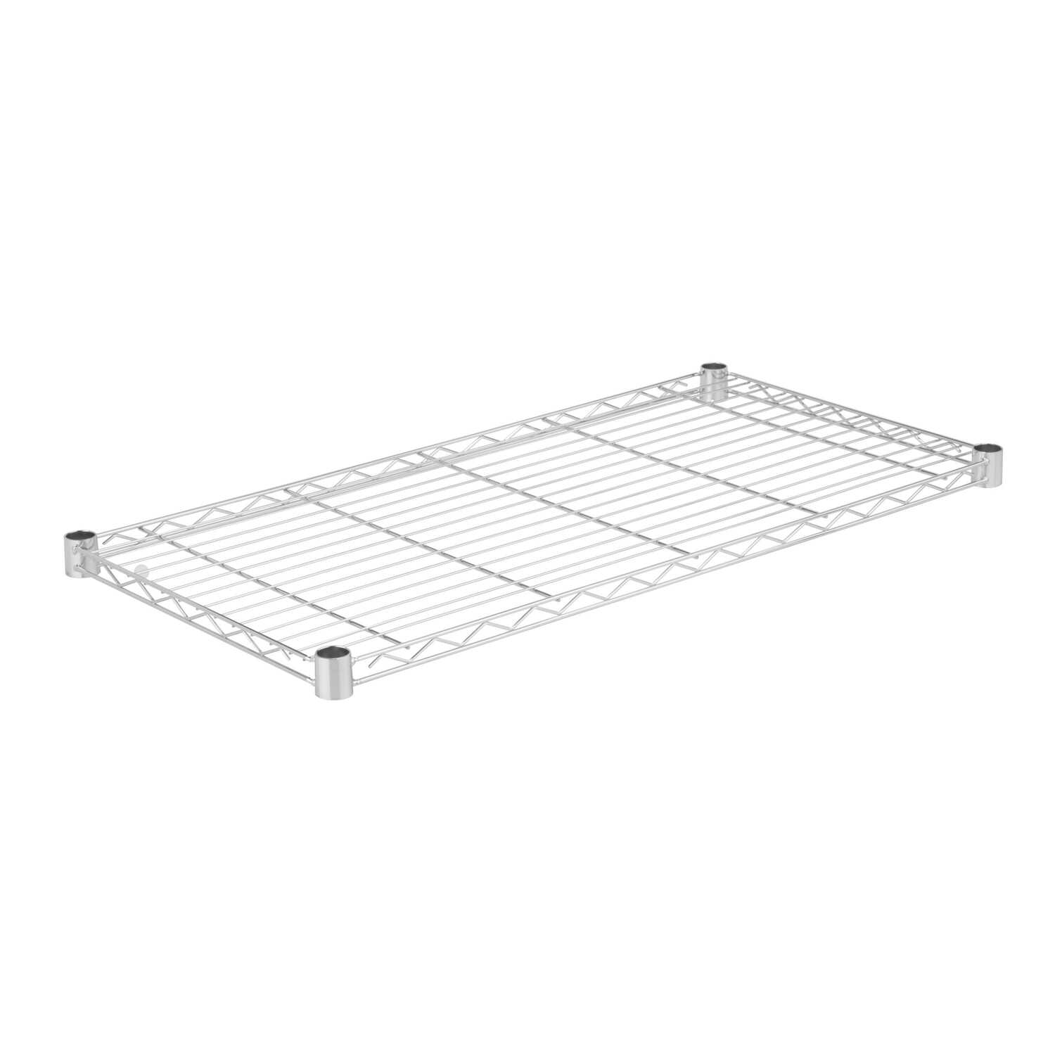 Honey Can Do  1 in. H x 36 in. W x 18 in. D Steel  Shelf Rack  Silver