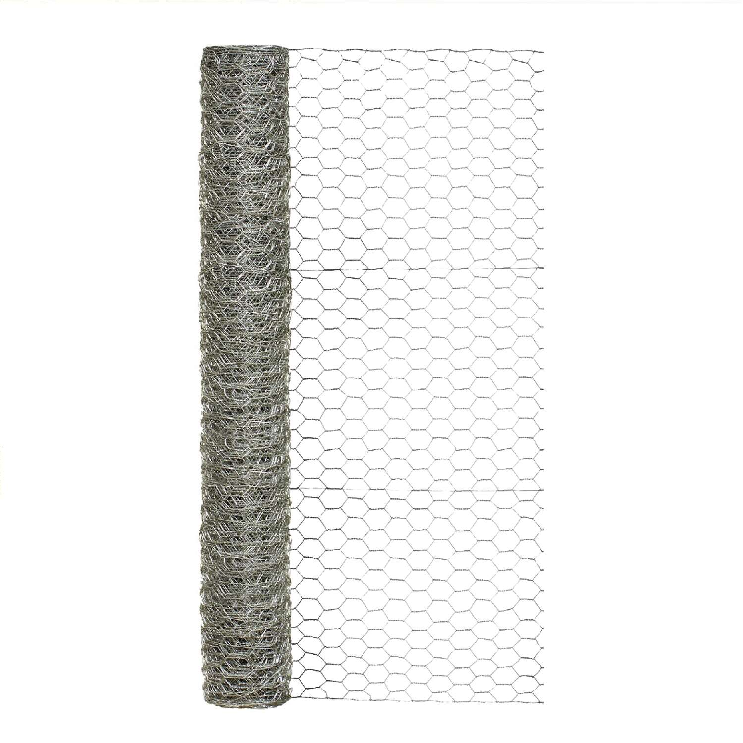Garden Craft 36 in. H x 25 ft. L 20 Ga. Silver Poultry Netting