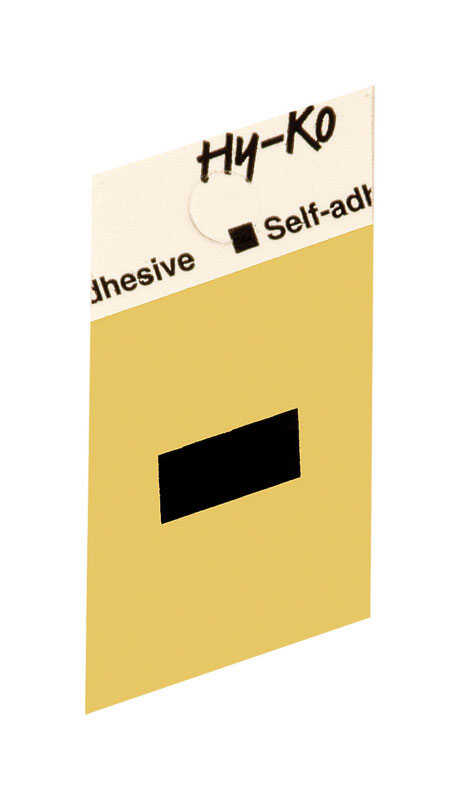 Hy-Ko  1-1/2 in. Aluminum  Hyphen  Black  Self-Adhesive  Special Character