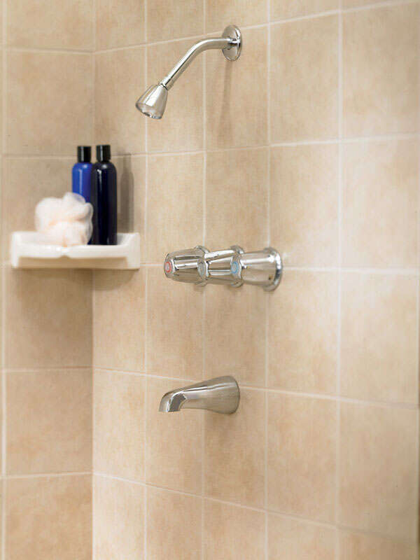 OakBrook  Essentials  3 Handle Tub and Shower  3 Knobs  Tub and Shower Faucet  Polished Chrome  Meta