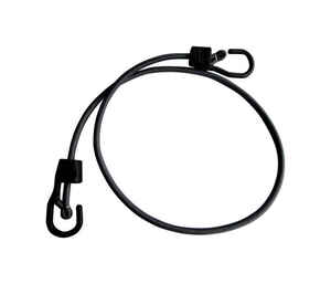 Keeper  Ultra  Black  Bungee Cord  48 in. L x 0.315 in.  1 pk