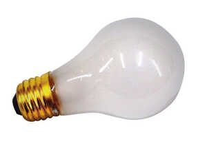 USH  50 watts A19  Incandescent Bulb  White  1 pk Appliance
