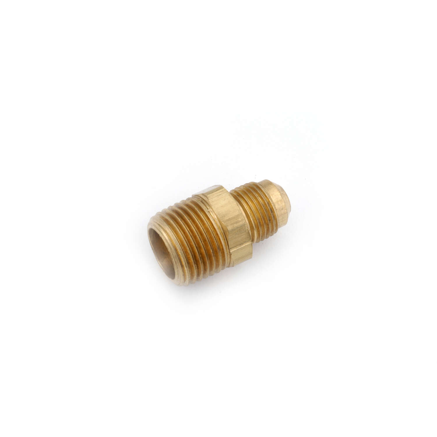 Anderson Metals Corporations  3/8 in. Flare   x 3/8 in. Dia. MIP  Brass  Half Union