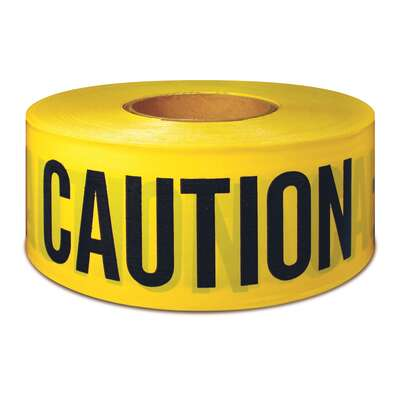 IPG  300 ft. L x 3 in. W Polyethylene  Caution  Barricade Tape  Yellow