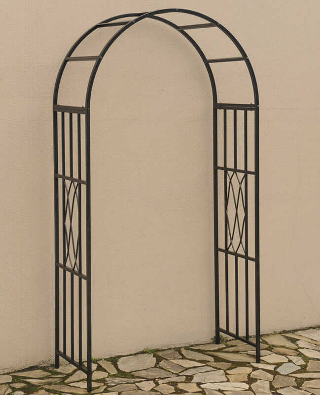 Living Accents  90 in. H Black  Steel  Garden Arbor