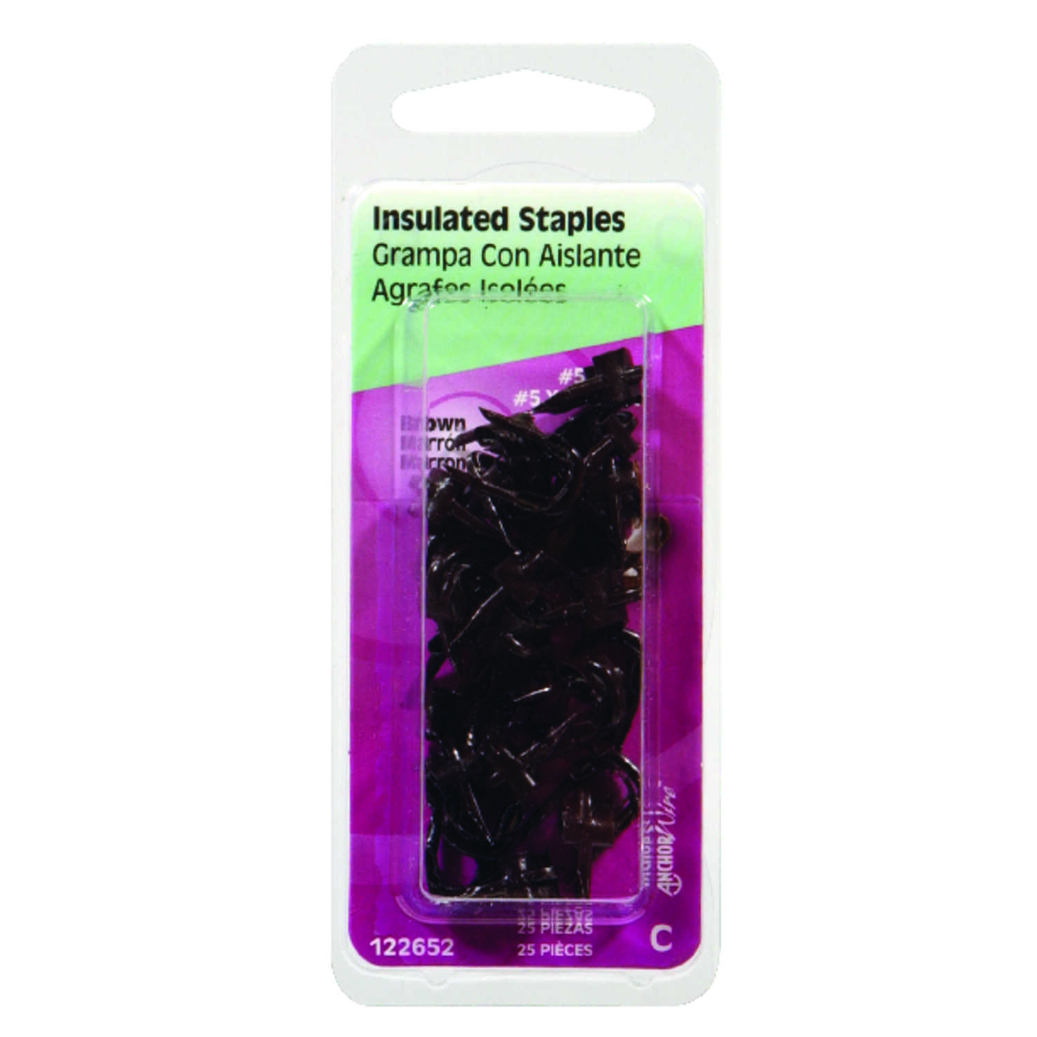 HILLMAN  AnchorWire  1/2 in. L x 1/2 in. W Steel  Insulated Crown  Insulated Staples  25 pk