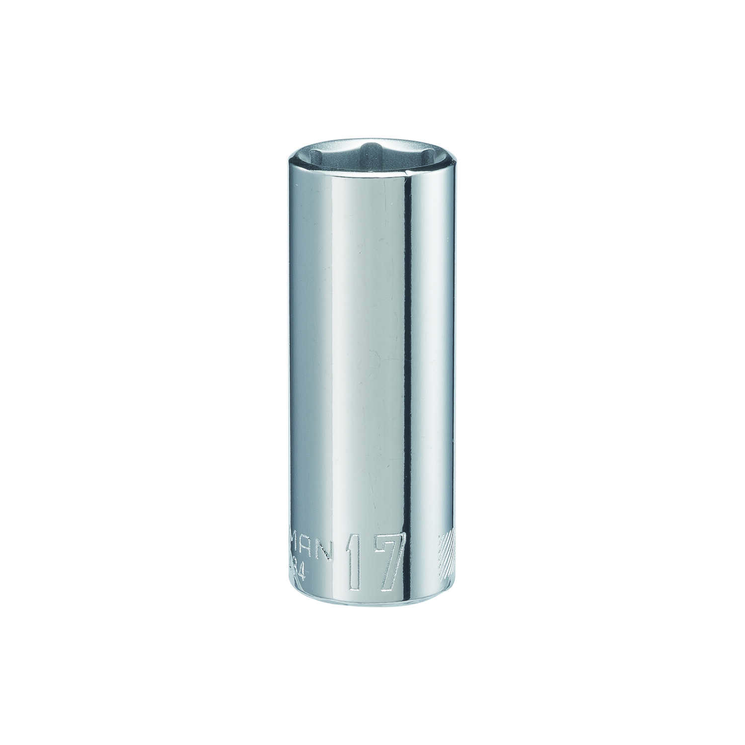 Craftsman  17 mm  x 3/8 in. drive  Metric  6 Point Deep  Socket  1 pc.