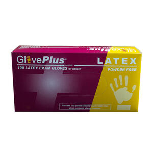 GlovePlus  Latex  Disposable Gloves  L  Ivory  100 pk