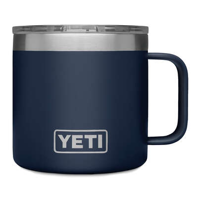 YETI Rambler 14 oz. Navy BPA Free Insulated Mug