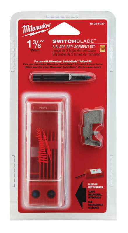 Milwaukee  SWITCHBLADE  1-3/8 in. L x 0.06 in.  Hardened Steel  Wood Chiseling  Replacement Switchbl