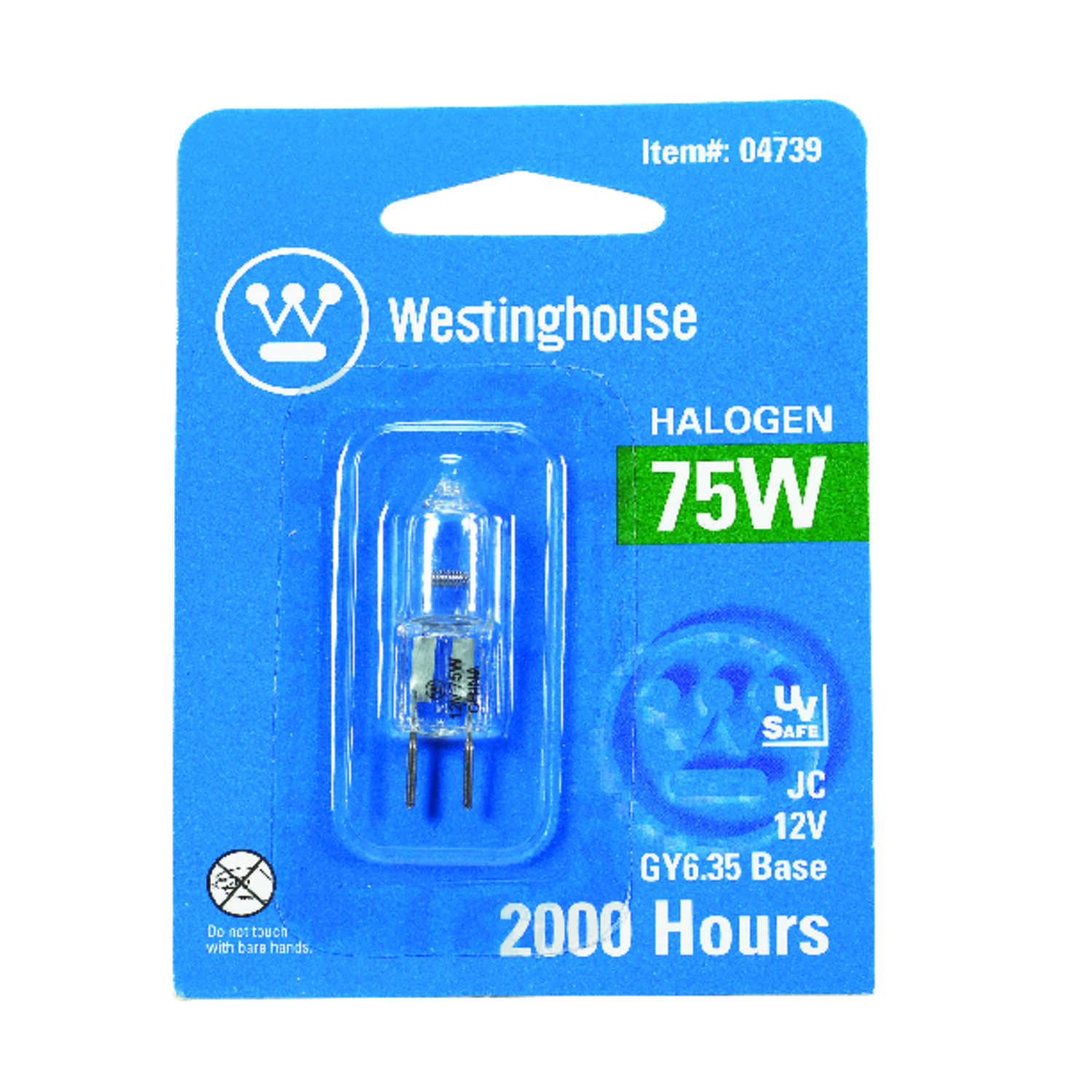 Westinghouse  75 watts T4  Halogen Bulb  1350 lumens White  Decorative  1 pk