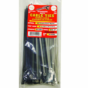 Tool City  8 in. L Camo  Cable Tie  100 pk