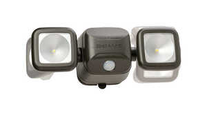Mr. Beams  High Performance  Motion-Sensing  Battery Powered  Security Light  Black  Plastic