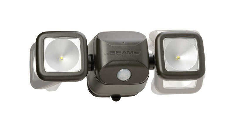 Mr. Beams  High Performance  Motion-Sensing  Battery Powered  Black  Security Light