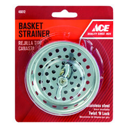 Ace  3-1/4 in. Dia. Stainless Steel  Basket Strainer Assembly
